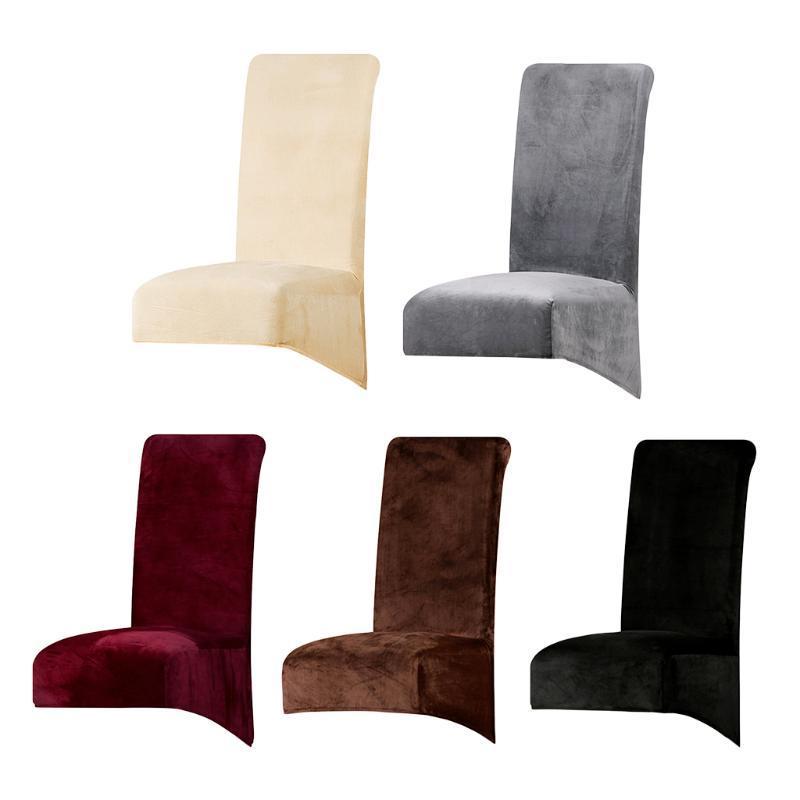 Cubierta de silla de comedor de terciopelo para la cocina Restaurante Multi ocasiones, excelente elasticidad