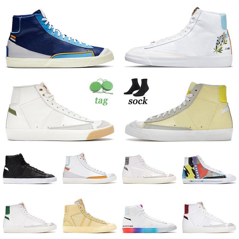 nike blazer mid 77 vintage low 2021 En Kaliteli Blazer Mid 77 Vintage Flat Low Casual Ayakkabı Erkek Bayan Platform Sneakers Catechu Indigo Siyah Efsane Mavi Tasarımcı Spor 36-45
