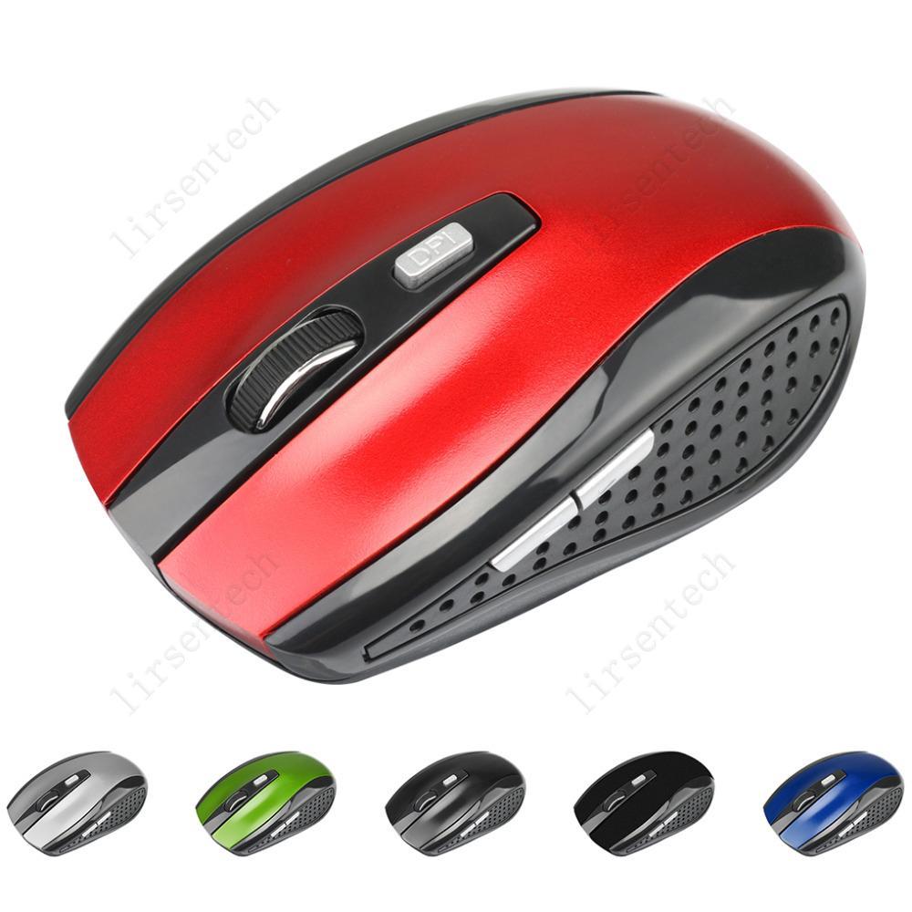 2.4GHz USB USB Ratón inalámbrico USB Receptor Mouse Smart Sleep Energy-Whing Ratones para computadora Tablet PC computadora portátil escritorio con caja blanca