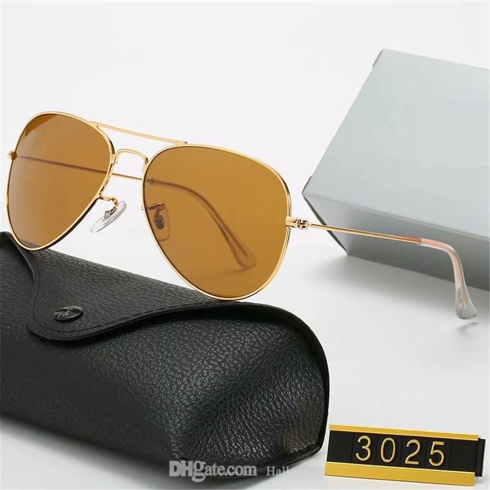 Klassische Design Sonnenbrille Marke Vintage Pilot Sonnenbrille 3025 Polarisierte UV400 Männer Frauen 58mm Glas Linsen