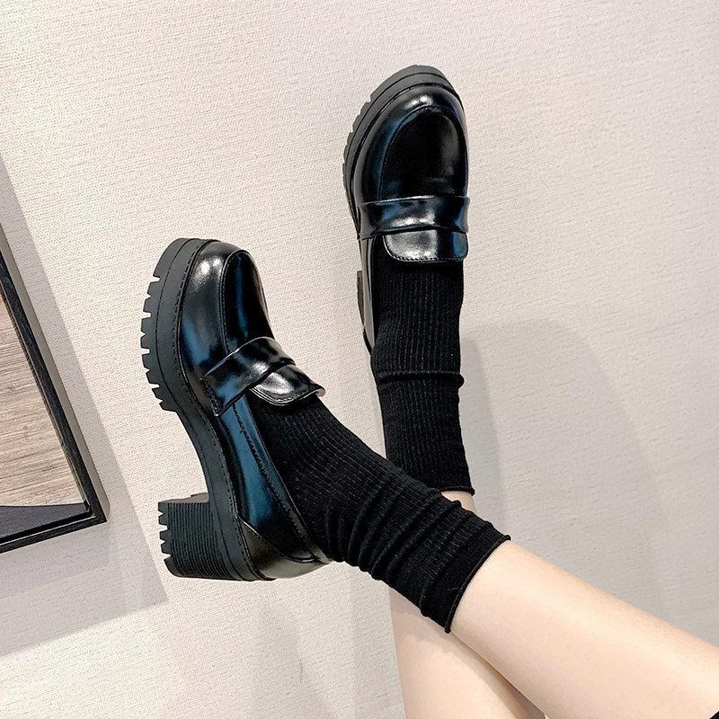 Vestido sapatos estudante japonês estudante feminino menina lolita cospaly jk uniforme mocassins casuais harajuku vintage