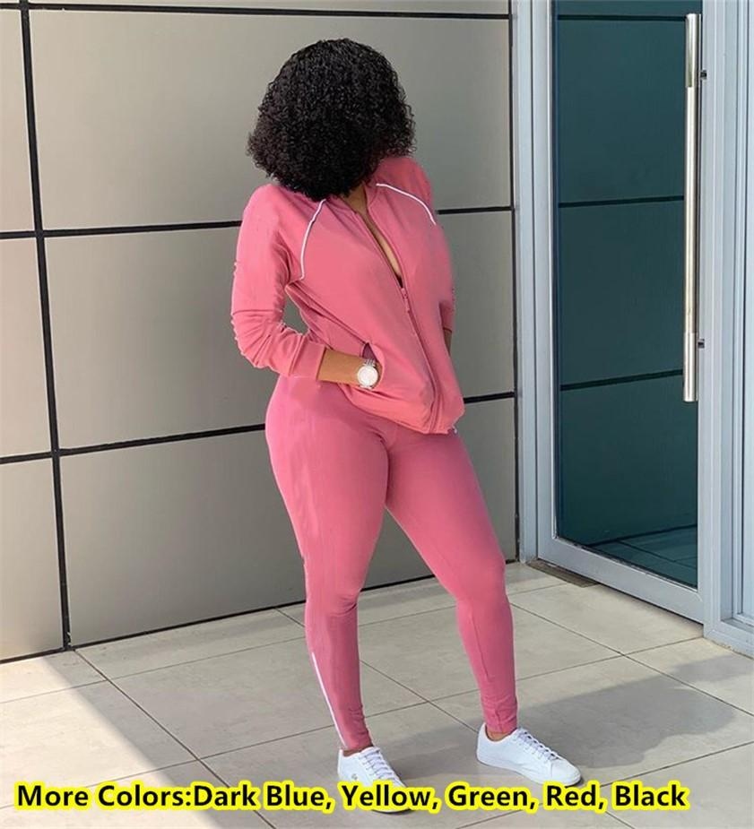 Women Jacket Leggings Two piece set Designer Tracksuits 3 stripes sweatsuits Casual outfits Long sleeve sportswear Spring clothes DHL 2570