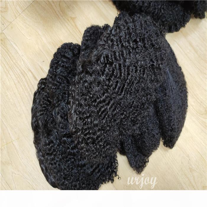 Top Calidad Indian Skin Thin Skin Barato Remy Toupee Hombres con peluca de pelo negro Toupee