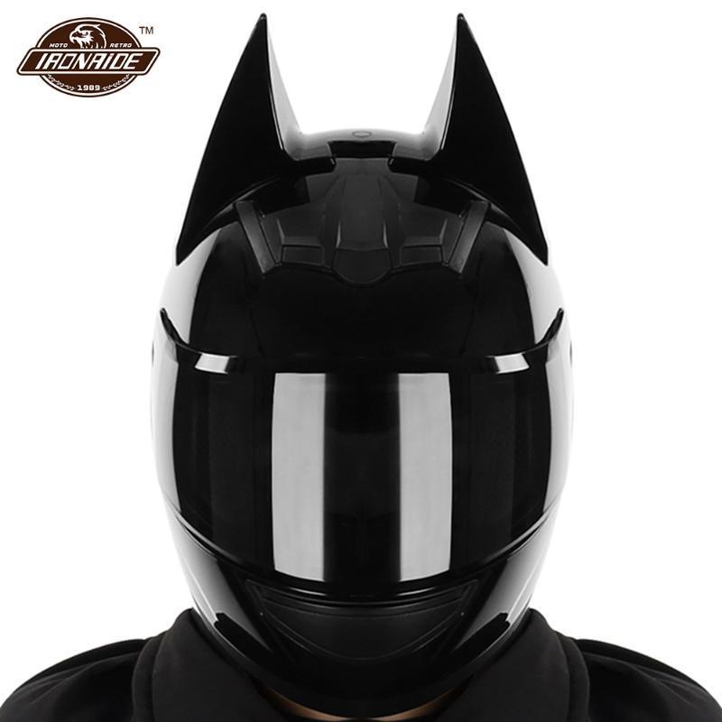 Casques de moto 2021 Casque Hommes Casco Moto Full Full Visage Capacete De Dual Lens Motocross Accessoires avec coin