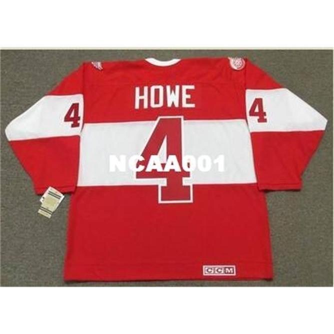 "668 # 4 Mark Howe Detroit Red Wings CCM 2014 ""Inverno Classic"" Alumni Hockey Jersey ou Personalizado Qualquer nome ou Número Retro Jersey"