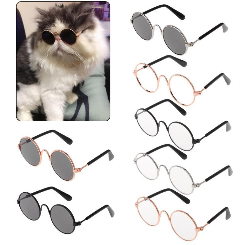 Dog Apparel Fashion Cat Pet Glasses Costume Sunglasses Round Funny Props Supply Products 2021 Arrival