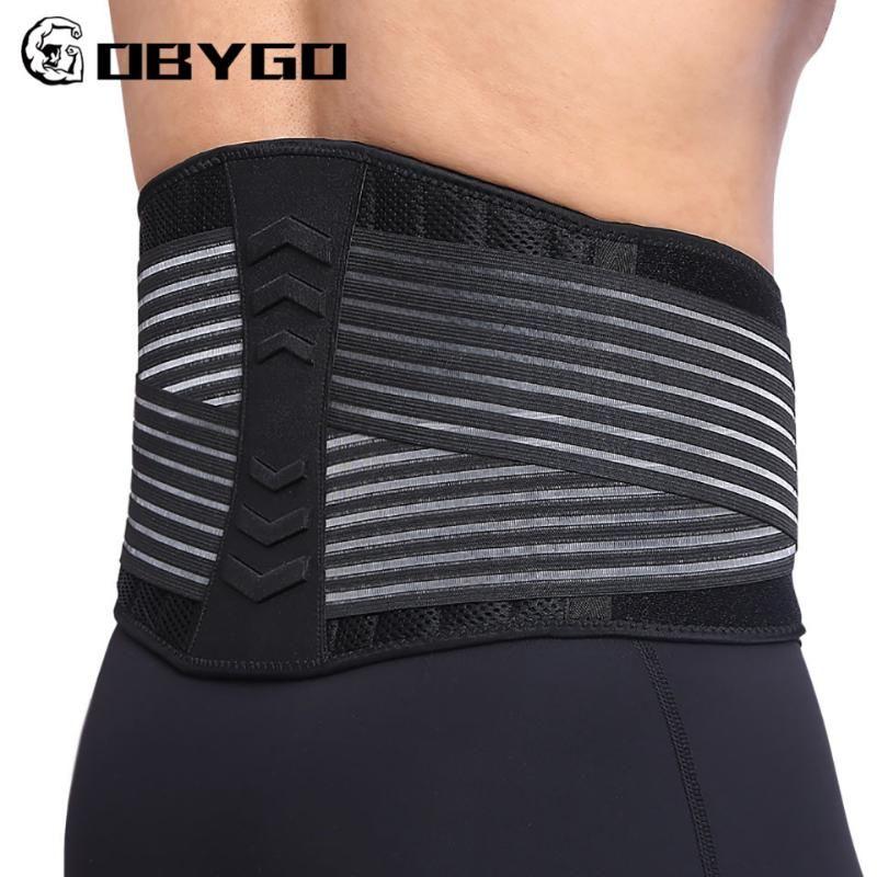 Cintura Apoio Gobygo 8 Springs Apoiando Cinto Lombar Homens de Compressão Voltar Fitness Exercício Exercício Levantamento de Halterofilismo Squat Treinamento