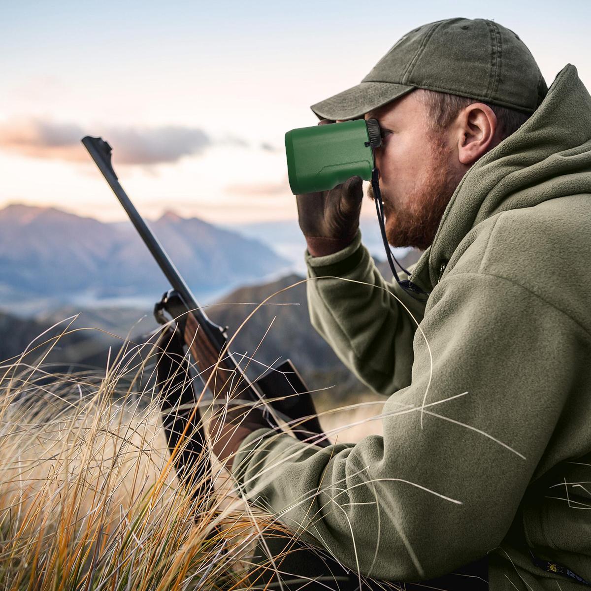 Laser Rangefinder, AJVEDUK Hunting Rangefinder 650 Yards Range Finder, Distance Finder for Golf 6X Digital Rangefinders with Slope Mode & Sp