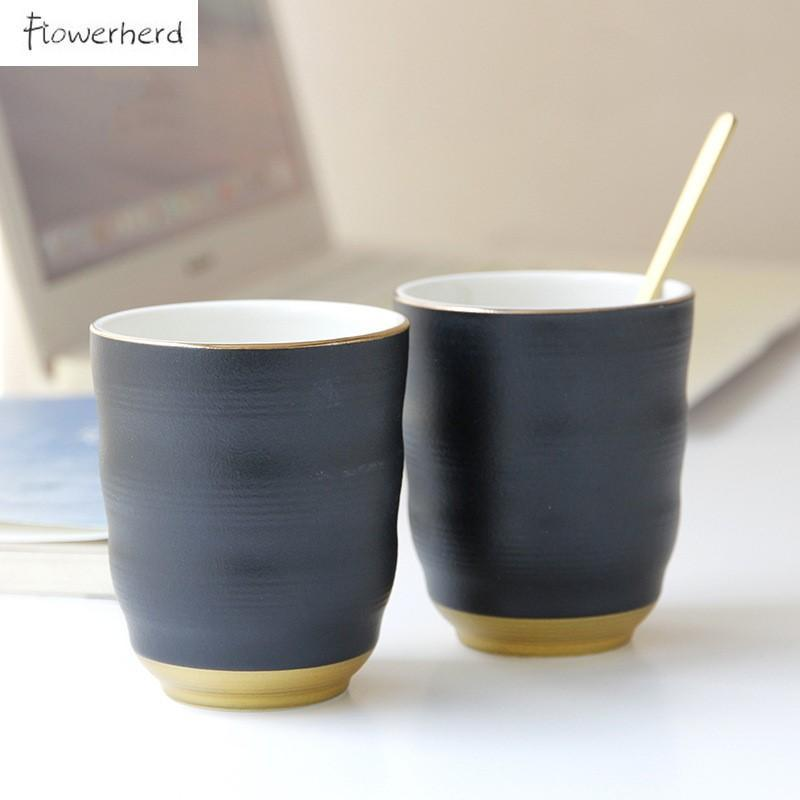 Mugs Large Ceramic Cups Coffee Cup Tea Coffeeware Straight Porcelain Teacup Household Water Pottery