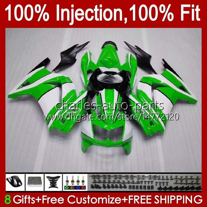 Injektion för Kawasaki Ninja ZX250R EX250R Green Factory ZX-250 ZX 250R 13HC.36 ZX250 2008 2009 2010 2011 2012 EX250 08 09 10 11 12 FAIRING
