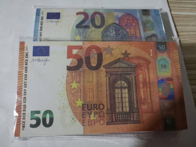 Bar Prop Faux Kütük 10 20 50 100 200 500 Euro Sahte Film Para Parti Çocuk Oyuncakları Yetişkin Oyunu 100 adet / paket 05
