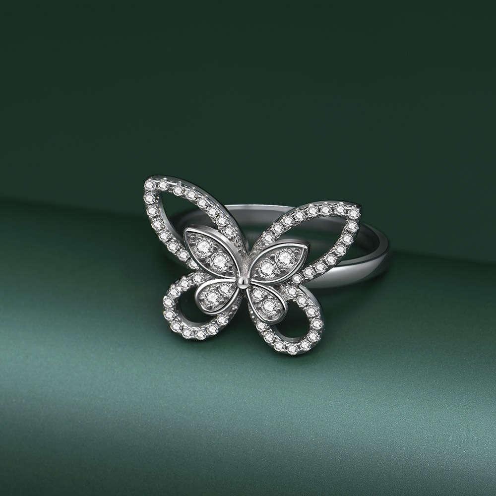 HBP Fashion Luxus Schmuck 2021 Neue 925 Sterling Silber Bogen Simulation Full Diamond Damen Ring