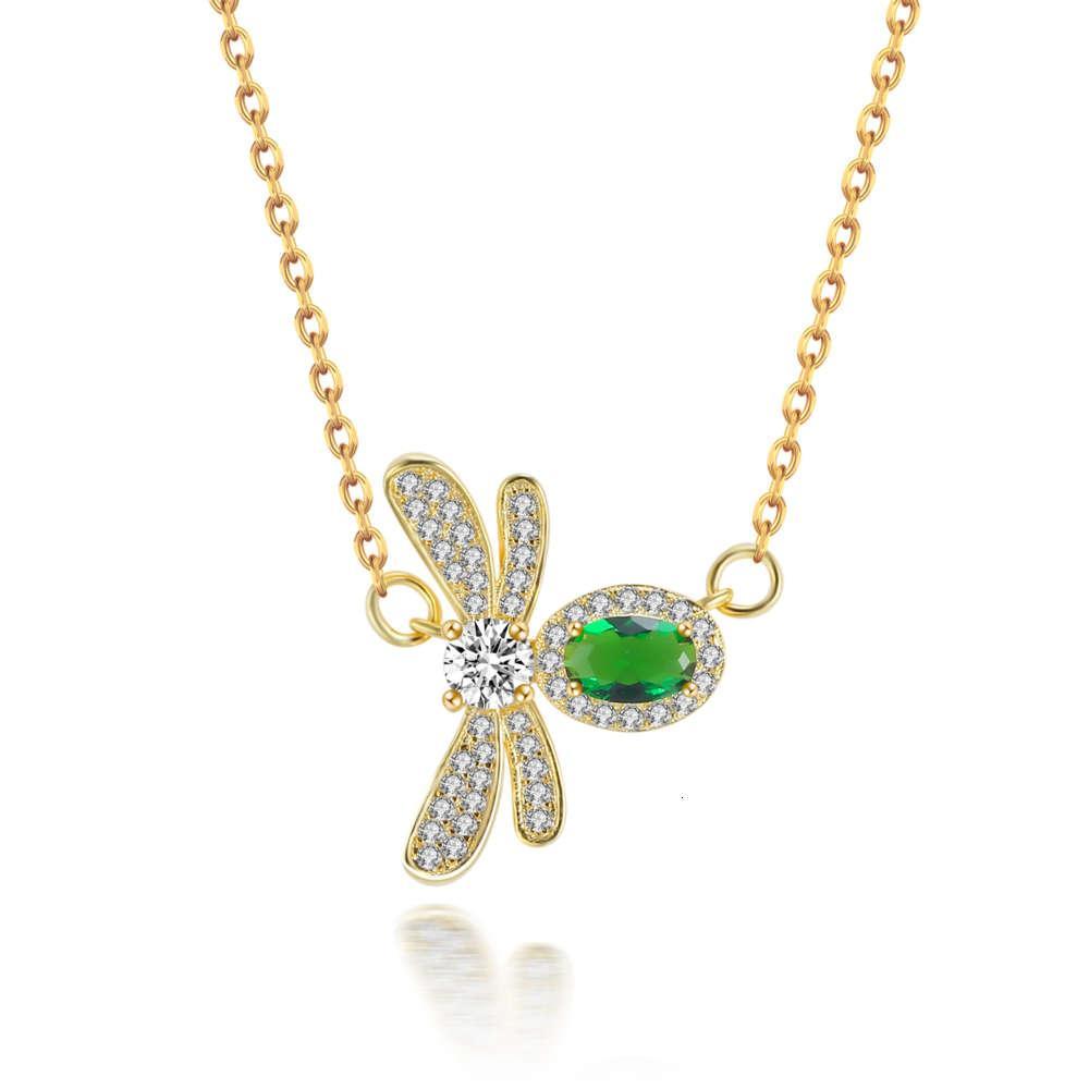 Hbp moda shipai temperamento novo colar de abelha 18k prata ouro dois cor zircon pulseira dupla propósito requintado sweater cadeia