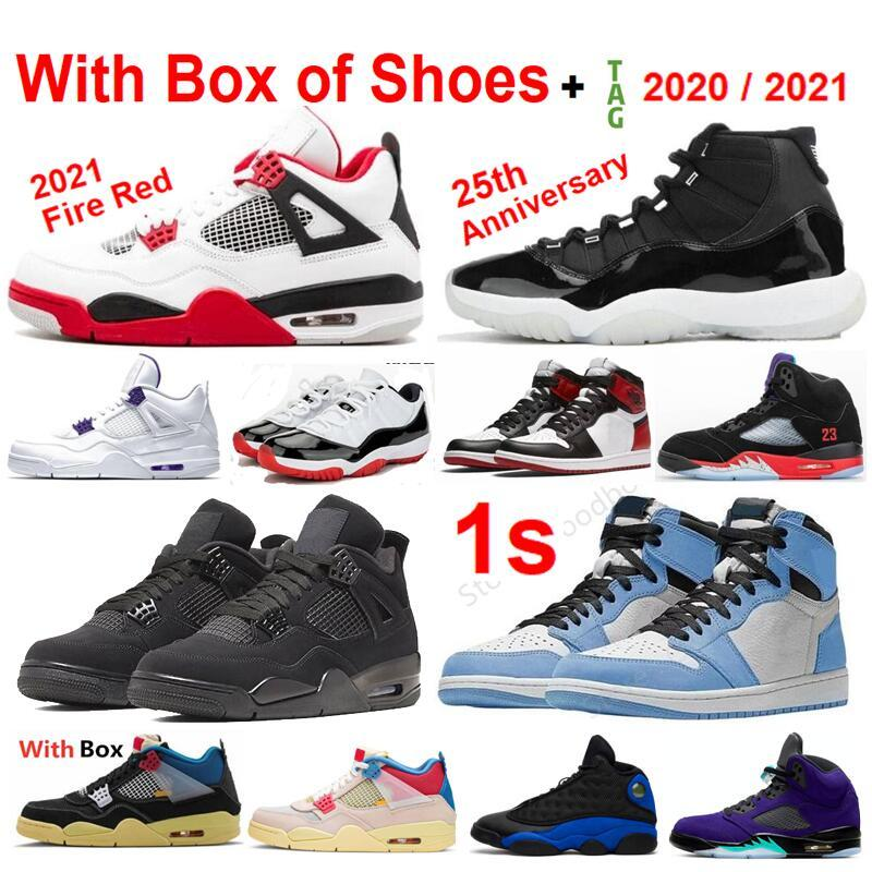2021 Nova Universidade Vermelho 4 Criado Branco 11s Concord University Blue 1s Cool Gray Homens Mulheres Basquetebol Sapatos 13S Espaço Doce 1S