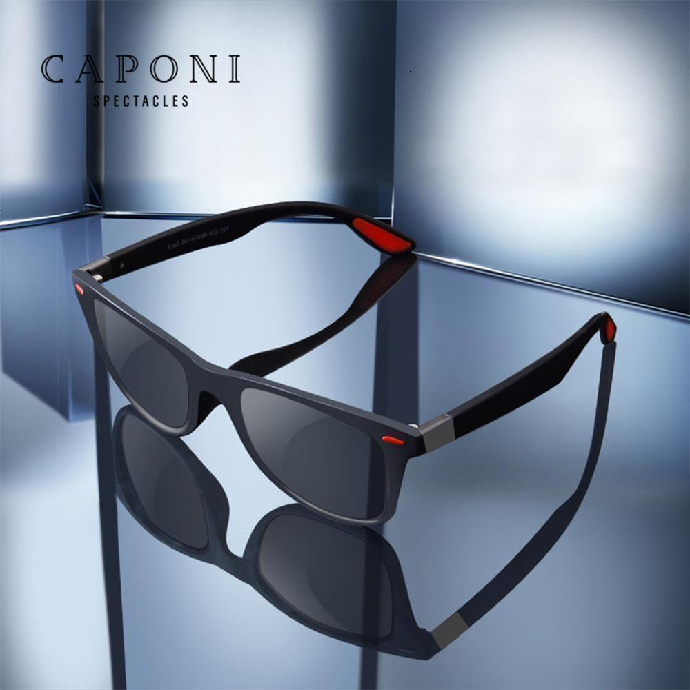 """Eyeglasses Store Новости 90% скидка """"2. Капони поляризованные двойные мужские квадратные солнцезащитные очки, высококачественные металлические очки, UV400 C"""