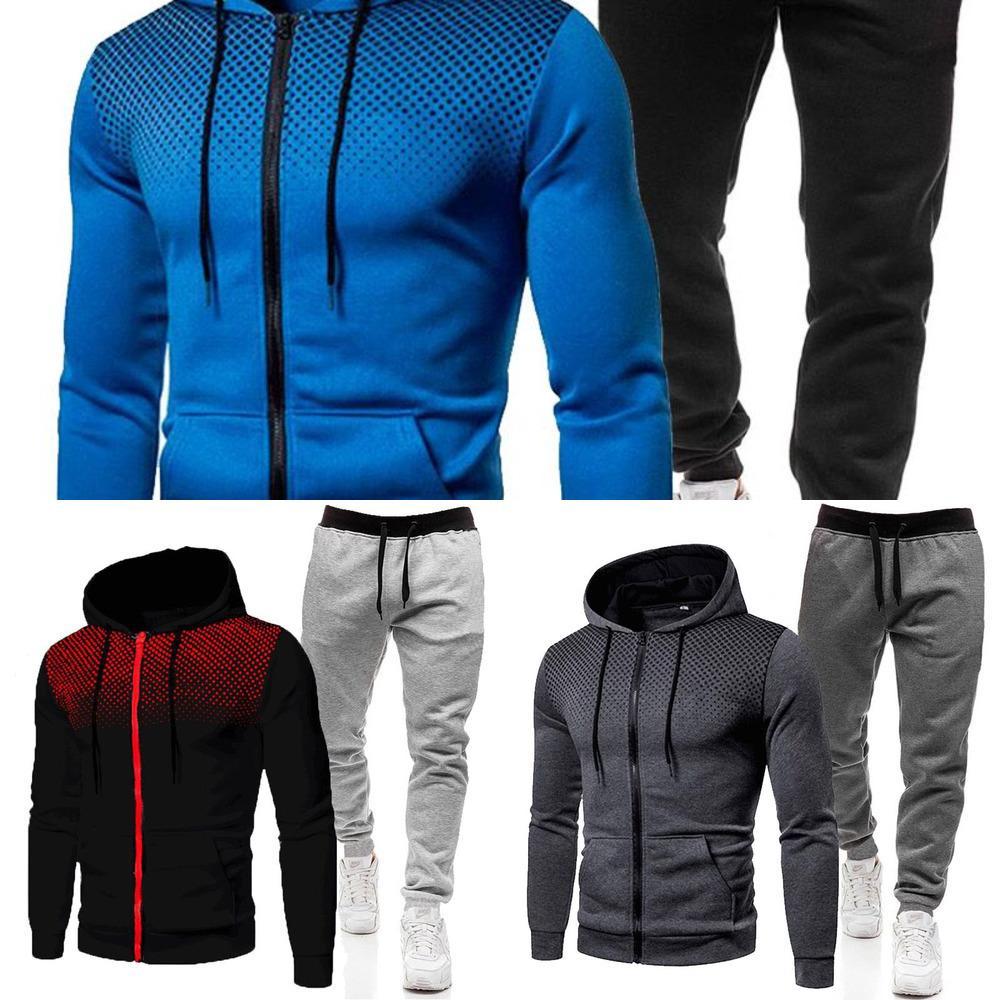 2021 Nowe Jesienne I Zimowe M? Skie Zestawy Bluzy + Spodnie Harajuku Dresy Sportowe Bluzy W stylu lässig dres marki sportowej x0601