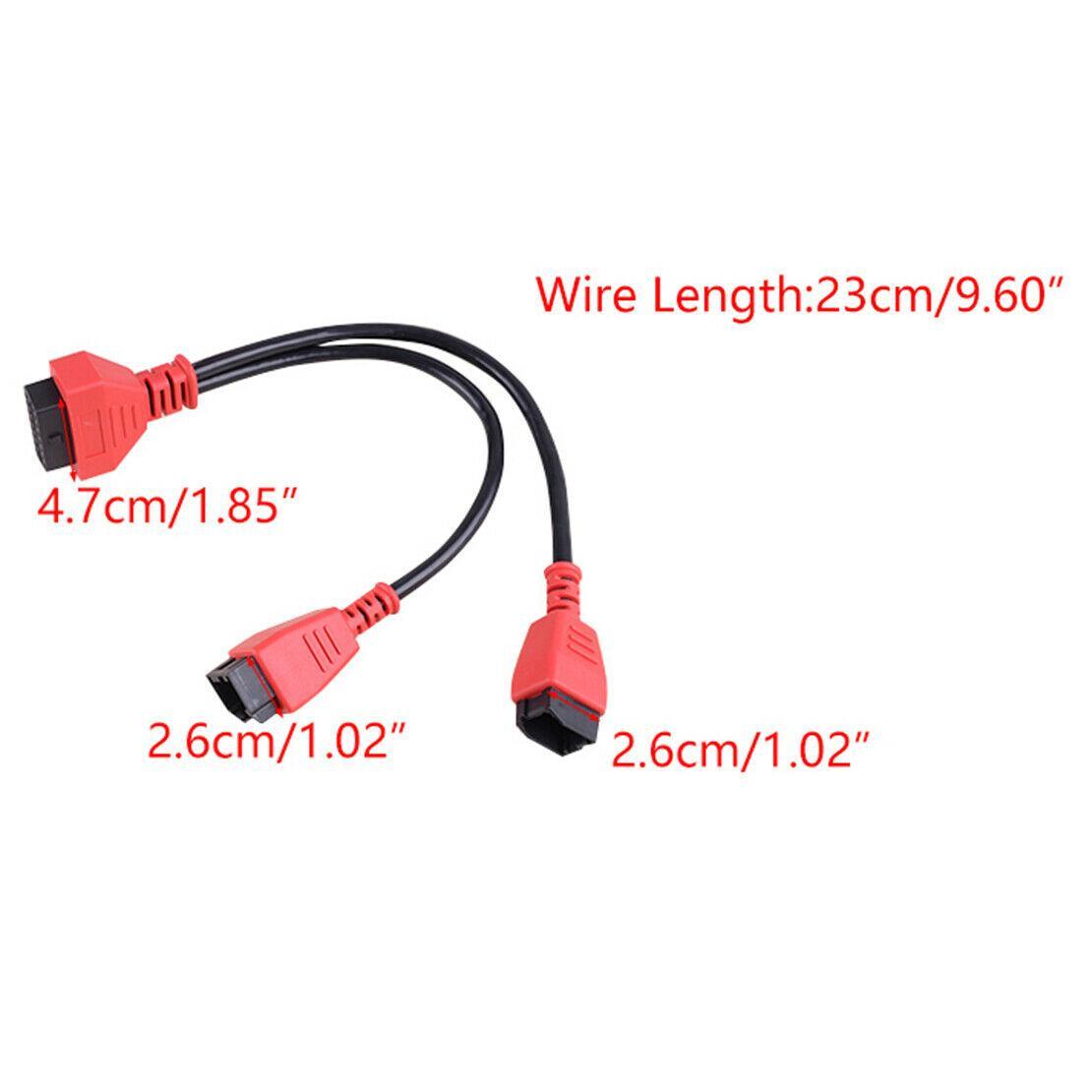 Dodge OBD için Jeep için 12 + 8 Pins OBDII DLC Adaptörü Kurşun Kablo Adaptörleri
