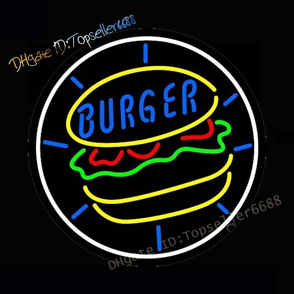 Diner Burger неоновые подписывает фонари, ручной работы натуральная стеклянная трубка, рекламный знак stignlight, пивной бар Pub Home Room Windows