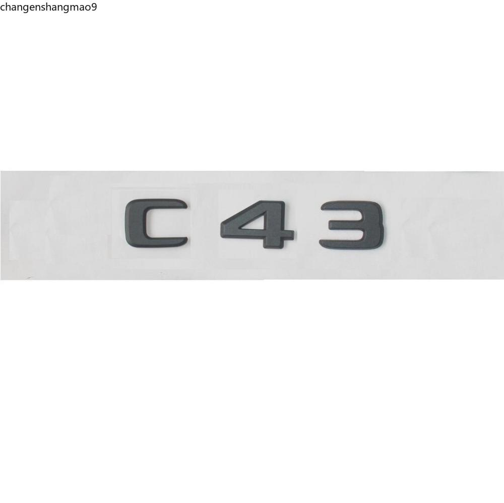 Newest Matte Black ABS Rear Trunk Letters Badge Badges Emblem Emblems Decal Sticker for Mercedes Benz C Class C43 AMG 17-19