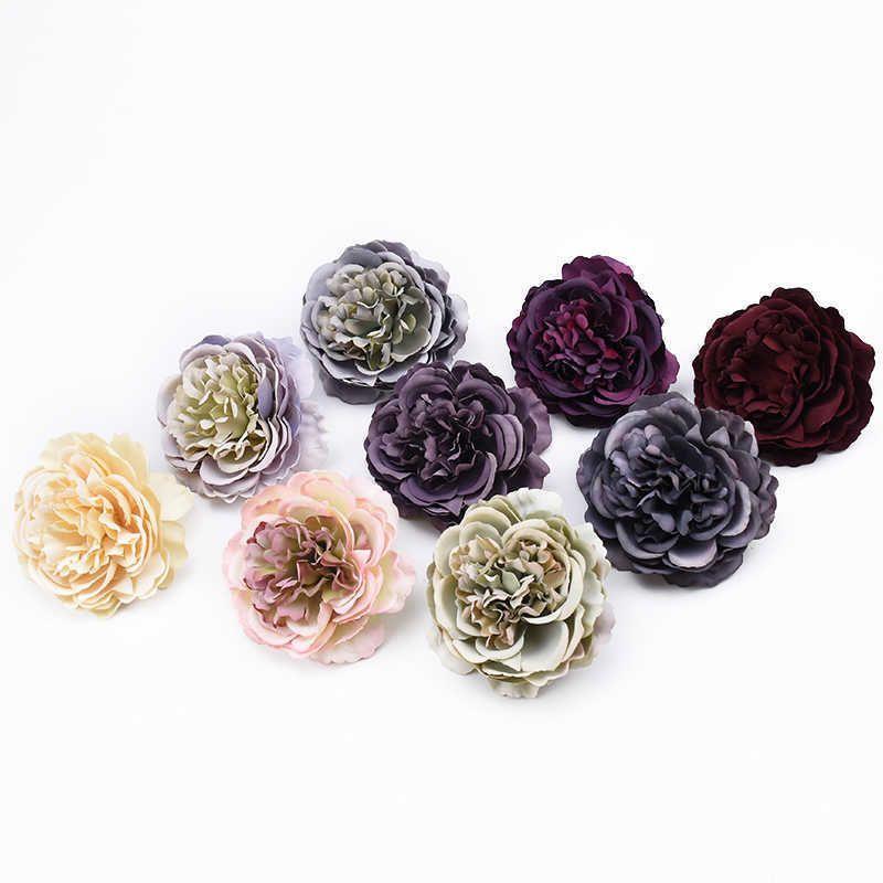 30pcs 고품질 레트로 실크 모란 꽃 벽 결혼식 신부 액세서리 클리어런스 DIY 파티 홈 장식 인공 꽃