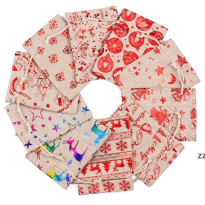 Sacos de algodão de linho colorido Bolsas de algodão 10x14 13x18cm Casa Muslin Doces Doces Presentes de Jóias Embalagem de Embalagem Sacos de Draorstring Bolsas Presente Bolsas Hwe8285