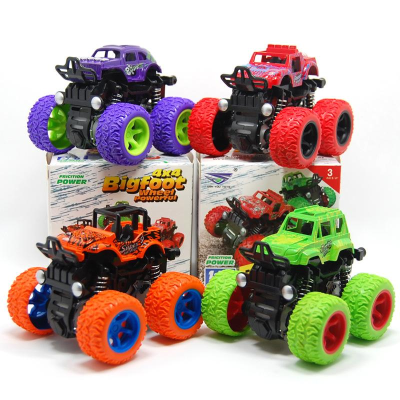 1:36 Escala 4WD Veículo Off-Road Bigfoot Roda Conluía Capacidade Prática Brinquedos Crianças Inércia Fricção Poder Carros Modelo Diecast Carros