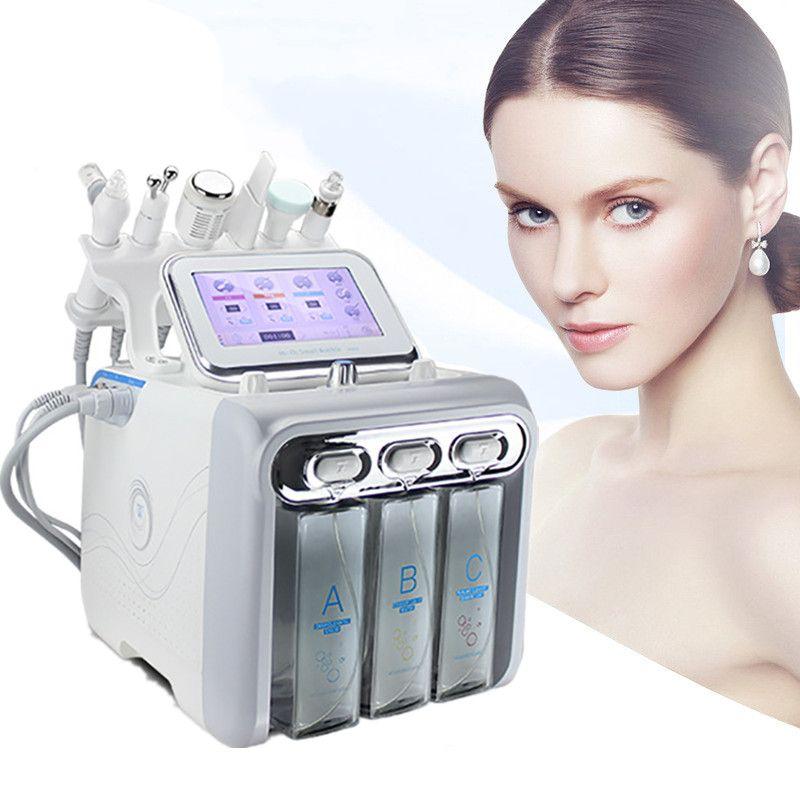 Top Quality 6 em 1 Hydra Dermaabrasão RF Spa Máquina Facial Água Oxigênio Jet Hydro Diamante Peeling MicrodermabraçãoBeauty Equipamentos