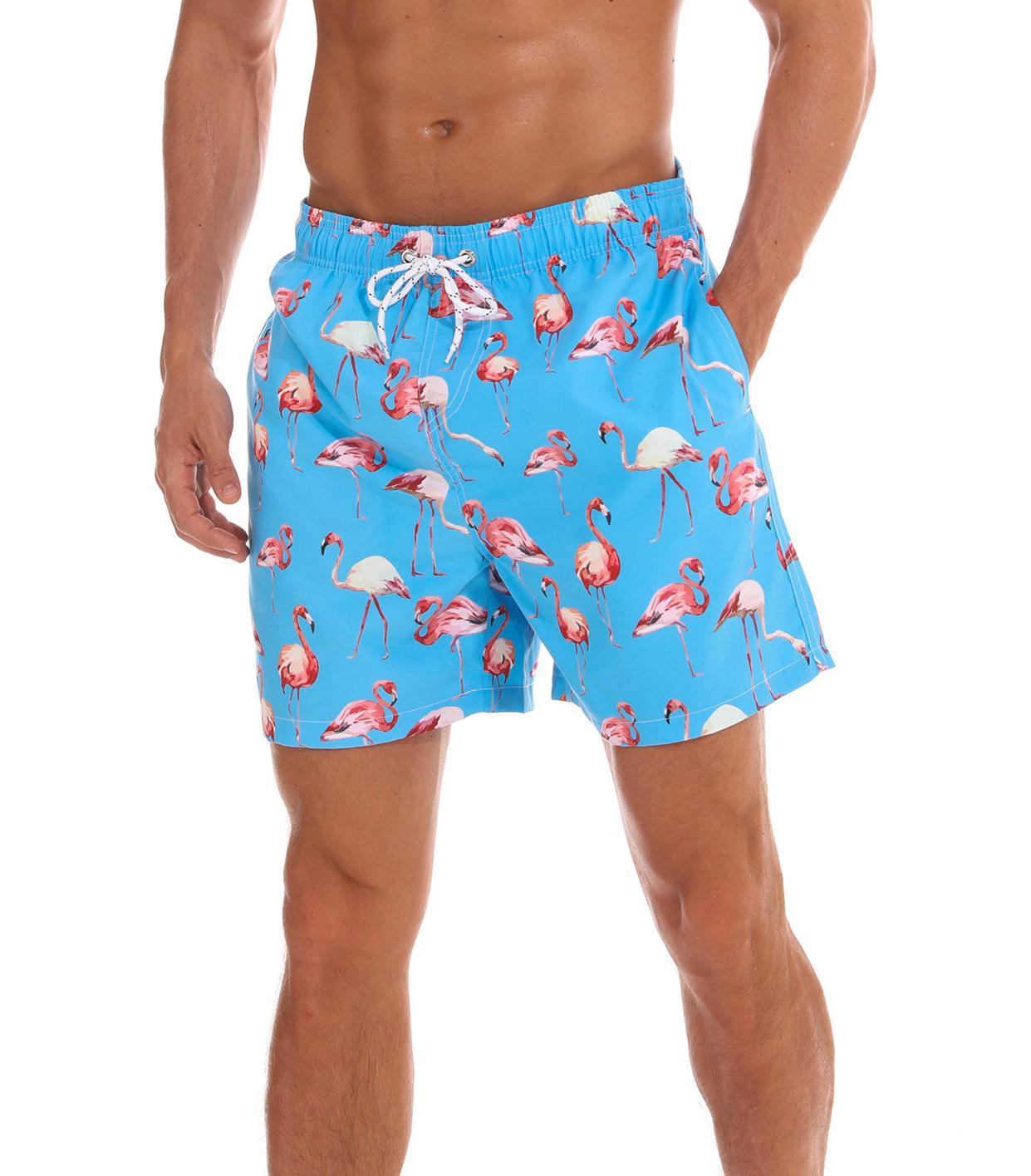 الرجال السباحة جذوع سريعة الجافة شاطئ السراويل مع جيوب فائقة الأزياء مجلس السراويل الرجال المطبوعة شاطئ السباحة رجل رياضة السراويل القصيرة 09