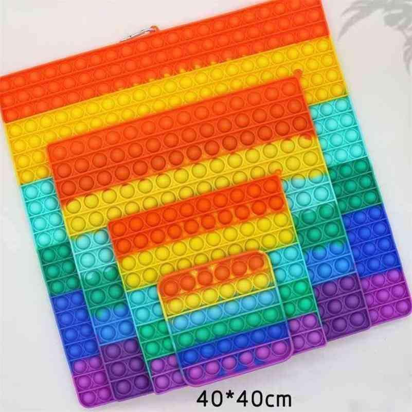 Fidget 40 cm 30 cm 20 cm juguete gigante de gran tamaño Bubbler Bubbler Poppers Tablero Sensory Pad Toys Push Bubble Poo-su rociamiento de estrés Puzzle Dedone el juego G66ICF6
