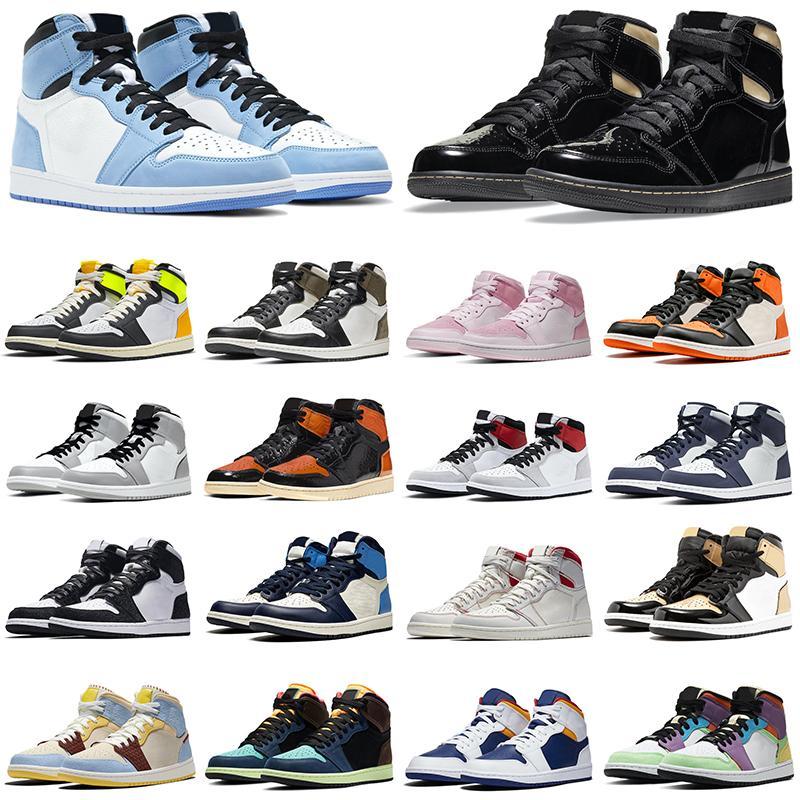 air jordan retro 1 alto og zapatos de baloncesto jumpman 1s Chicago Black Volt Gold Bio Hack para hombre para mujer Zapatillas de deporte deportivas al aire libre