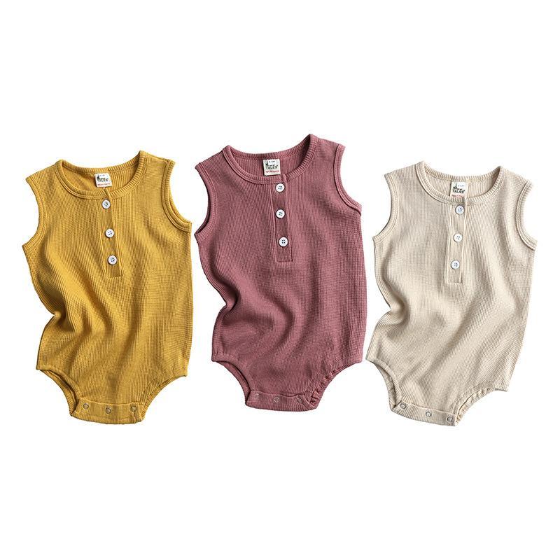 Baby Girl Romper Ins Jumpsuit Clothing Toddler Boutique Romper Clothes Newborn Kids Sleeveless Summer Boy Onesie Bodysuit
