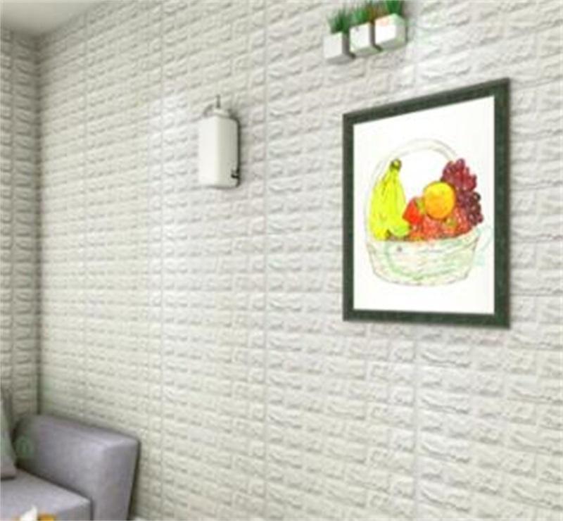 Papeles de pared Decoración para el hogar Fondos de pantalla para sala de estar 3D Wallpaper autoadhesivo en relieve impermeable Etiqueta de pared moderna 99 V2