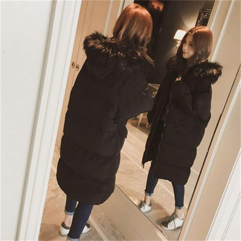Inverno novo pão médio coreano e longo para baixo grande colarinho jaqueta de algodão das mulheres acolchoado
