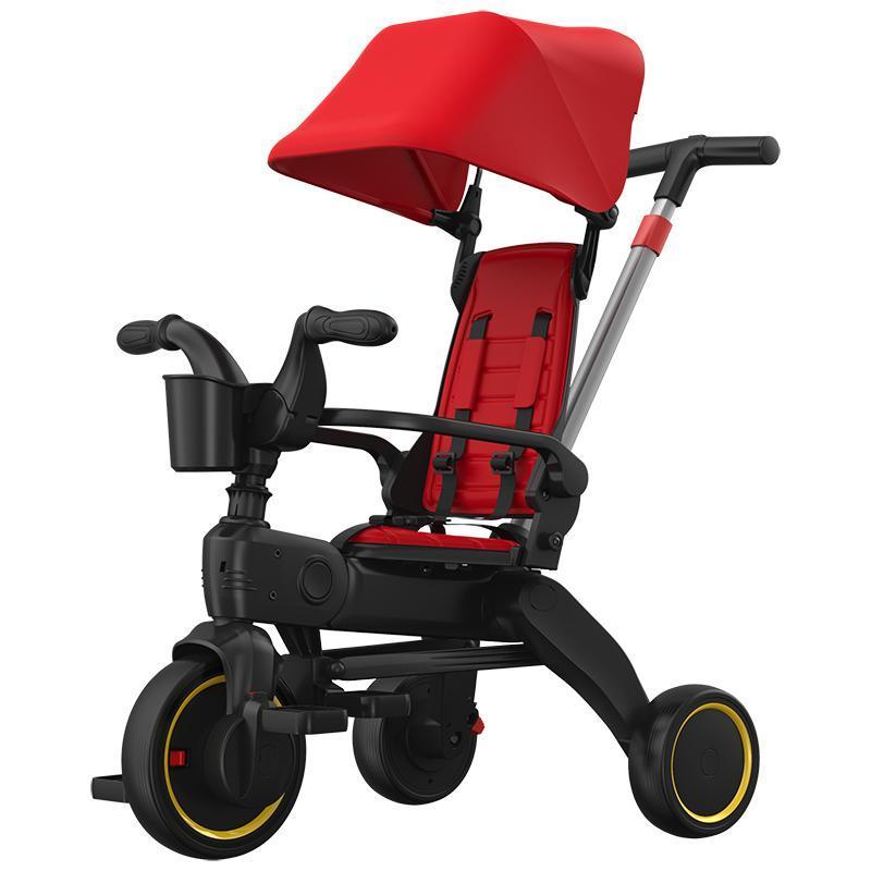 Carrinhos # 5 em 1 Trike Baby Stroller Criança Bike Reboque Pedal Triciclo Três Roda Equilíbrio