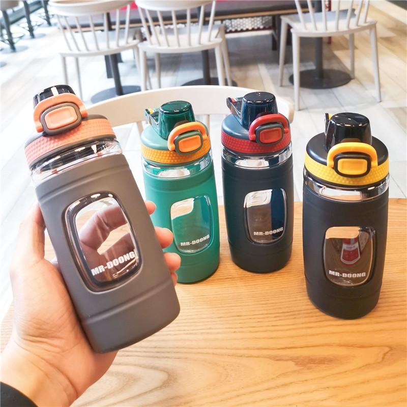 زجاجة مياه رياضية 550 مل برمجاز BPA دليل تسرب مجاني زجاجات خفيفة الوزن للخارج للهواء في الهواء الطلق التخييم ركوب الدراجات