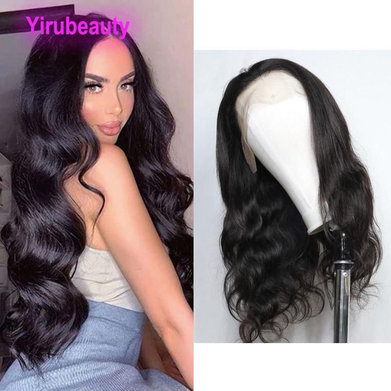 Parrucca anteriore peruviana del corpo 13 * 6 parrucca anteriore del merletto 100% capelli umani Tredici di sei parrucche colore naturale 12-30inch all'ingrosso