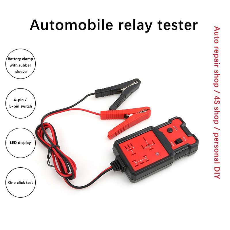 Nova bateria de 12V Cerca de Carro Carregar Testador de Carro de Carro de Quatro Pin Five-Pin Relay Tester Universal Electronic Automotive Relay