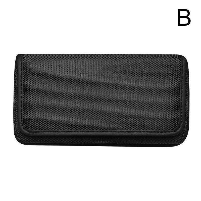 Horizontal Nylon Belt Loops Cellphone Holster Holder Carrying Case Sleeve Pouch For Men Waist Bags