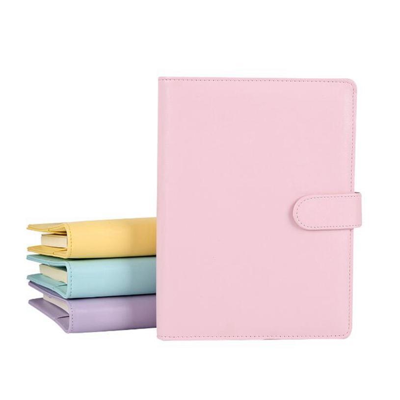 빈 노트북 바인더 루스 리프 노트북 종이없는 PU 가짜 가죽 커버 파일 폴더 나선형 플래너 스크랩북 4 색 EEB3996