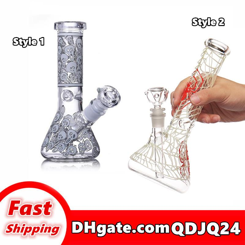 Großhandel High-Grade-Wasserhaare-Glas-Wasser-Rohr-Bong-Leuchter Effekt kann angepasst werden, wie das Stil der Stilspinnenmuster gefällt