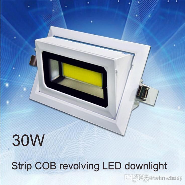 30 W 40 W LED Dikdörtgen COB Downlight IP65 LED Döner Işıklandırmalı AC85-265V Die-Döküm Alüminyum