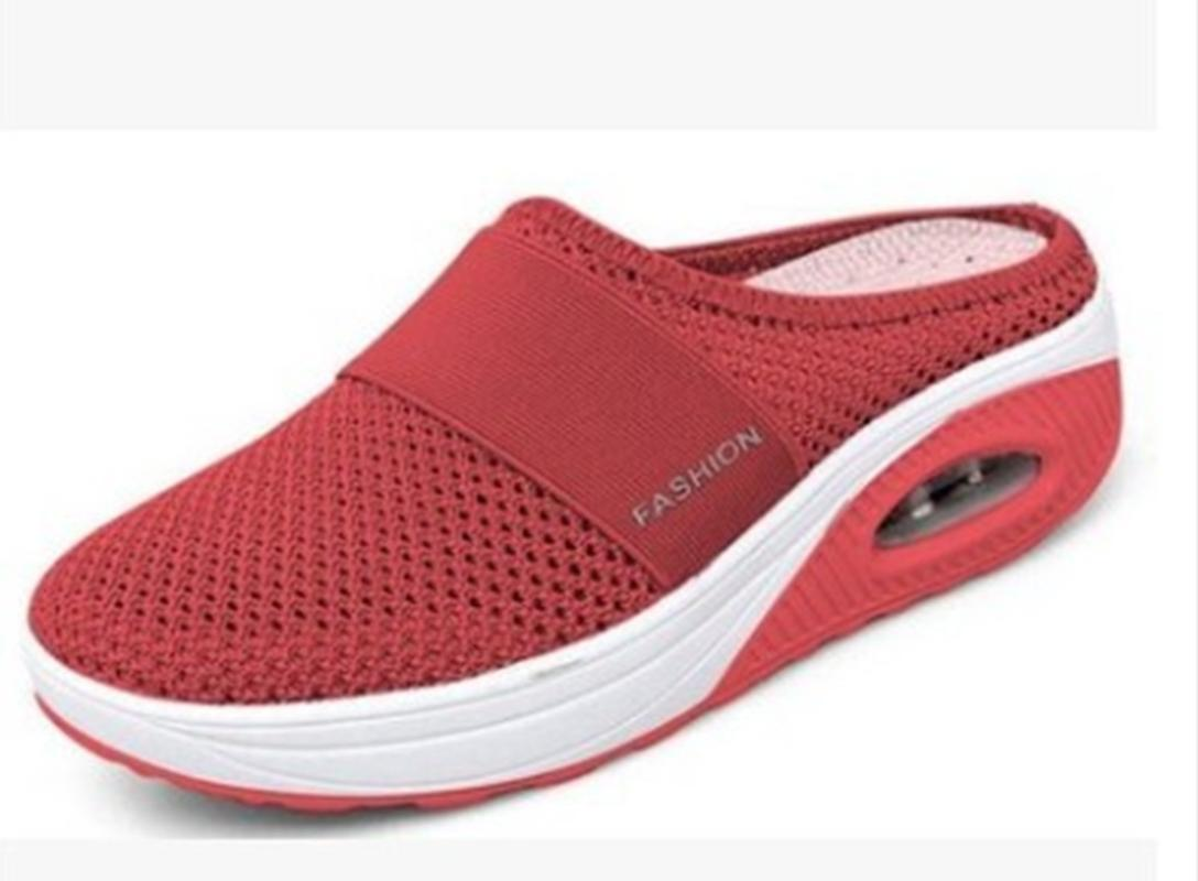 Sandals Women's Slippers Wedge Mesh Breathable Shoes Air Cushion Vibrating Sole Size 35-43 Shoe 2021