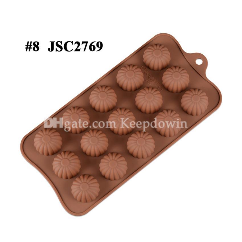 Çikolata Kalıpları Silikon Sıcak Kakao Bombaları Kalp Kalıpları Çikolata Şeker Kalıpları Için Silikon Şekiller Festivali Düğün Partileri için JSC1977