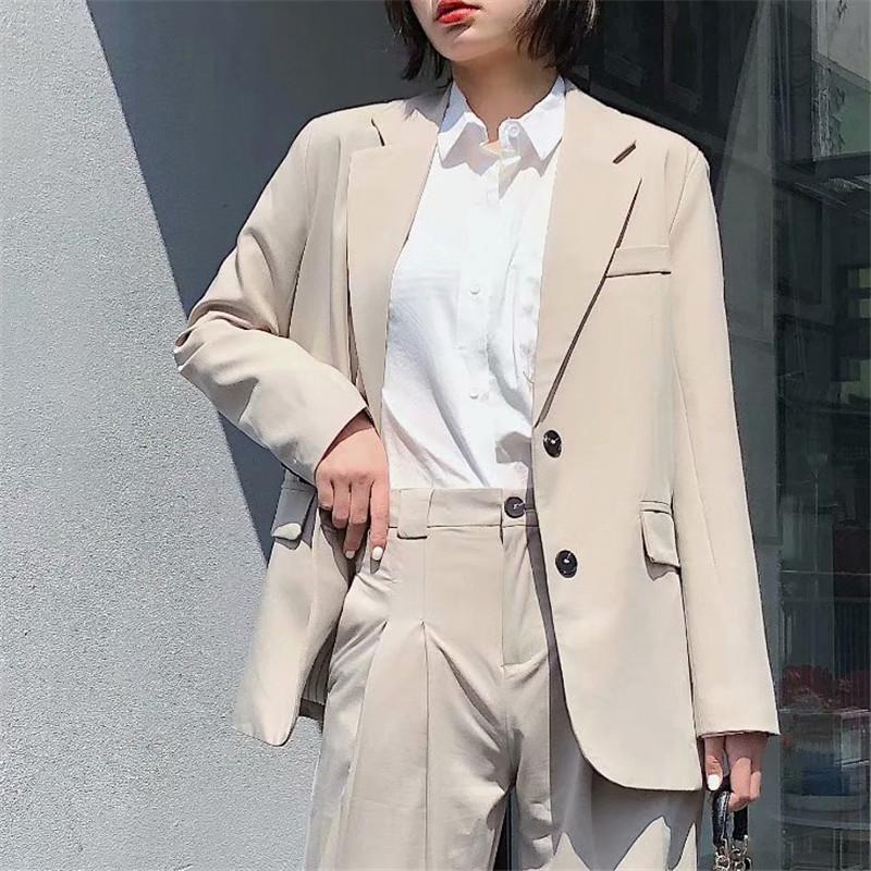 Women Suits Stylish Elegant Solid Women Blazer Jacket Fashion Pocket Single Breasted Work Wear Tops Outerwear Female Suit Jacket