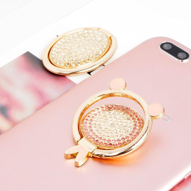 Anel de metal Telefone Titular Titular Sparkling Bling Mount Stand Expansível Rhinestone Grip Comprimidos Titulares para iPhone Samsung