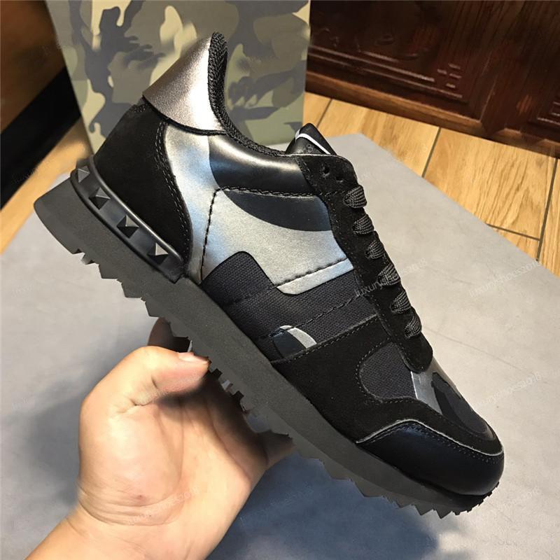 Nouveaux hommes Star Star Star Starded Casual Shoes Camouflage Camouflage Camouflage Camouflage Chaussures Combo Stars Rockrunner Sneakers de chaussures de lacets métalliques