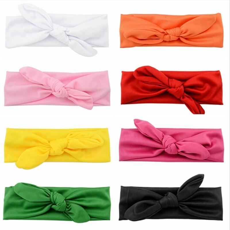 16 farben baby baumwolle krawatte stirnband headwrap vintage head wrap foto prop destroy knoten mädchen haarschmuck