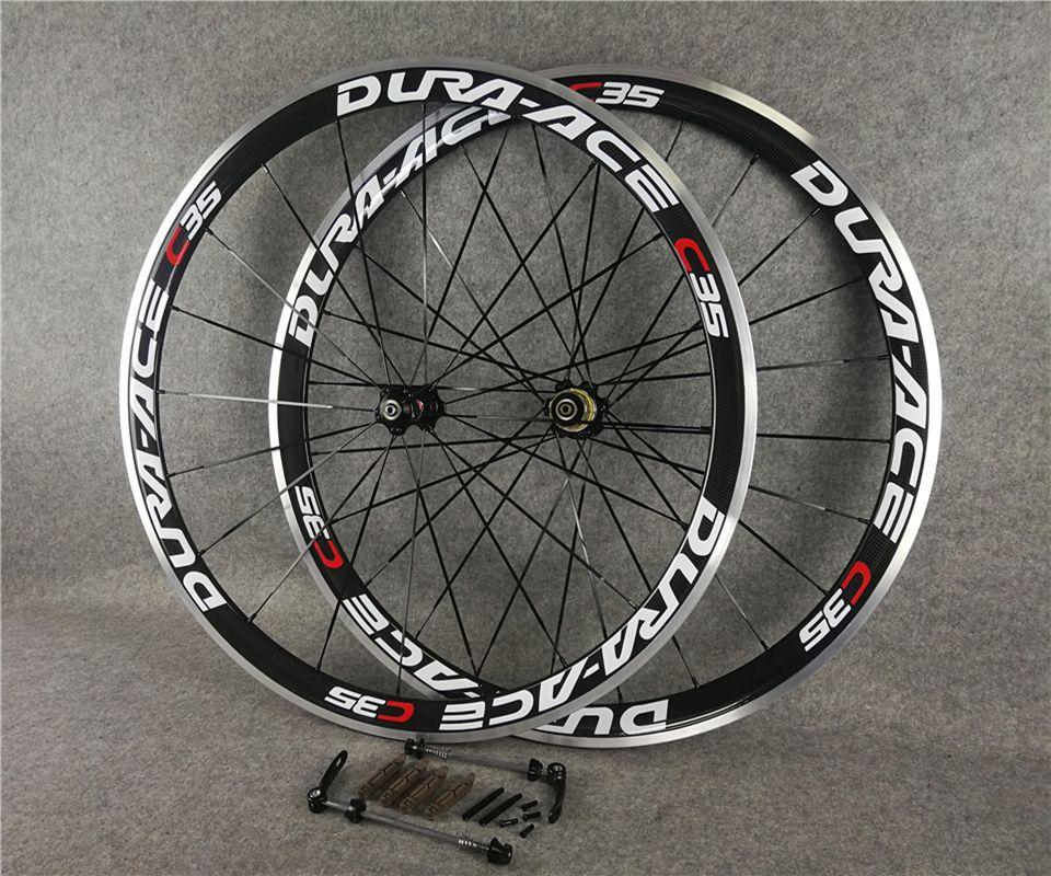 Dura ACE C35 Roues de carbone CLINCHER Roues tubulaires TUBULAIRES 700C Vélo de route Vélo Roue 38x23mm