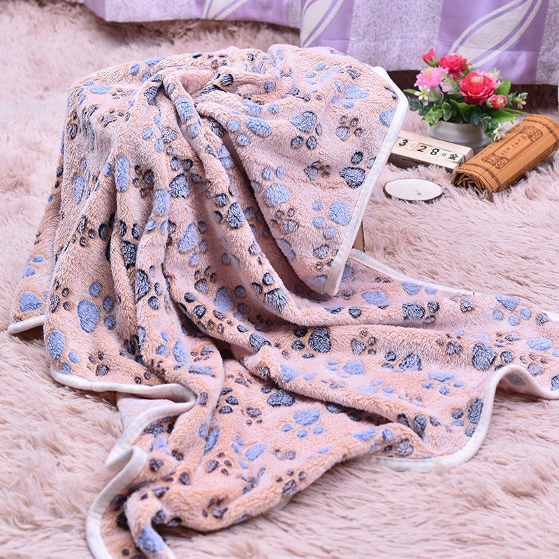 Одеяло для домашних животных Симпатичные лапы ногой печать собаки одеяла мягкие фланелевые спальные коврики щенок кошка теплая крышка кровати питомники