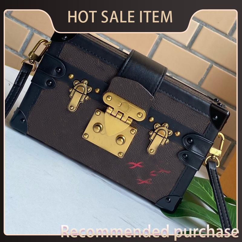 Сумка багажник мини коробка сумка кожаный миниатюрный холст кошелек старый цветок классическая сумка Malle Bage Bags магнитные Hasp женщины Crossbody CLU KSNKD